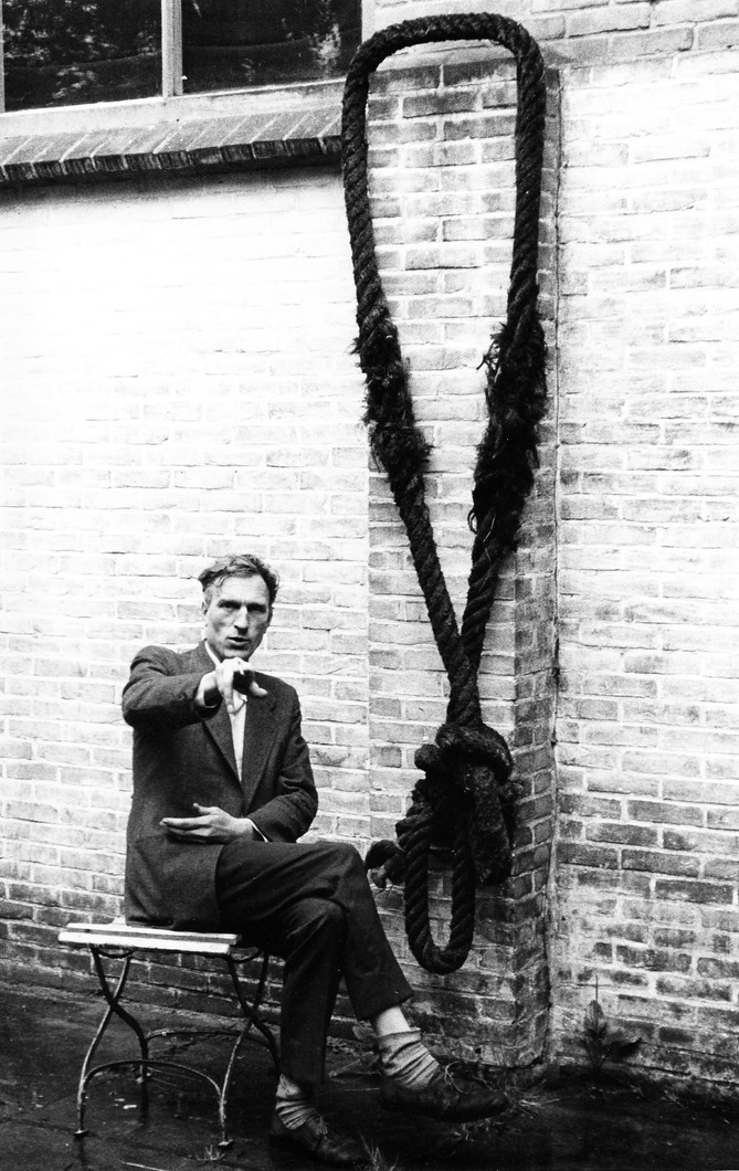 Van Geel 'met galg' (rond 1961) Foto: Emiel van Moerkerken